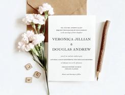 Thiệp cưới vintage V-009